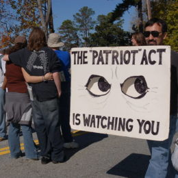 PATRIOT Act protest - Ashleigh Nushawg